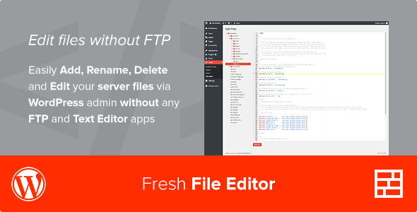 Fresh File Editor - WordPress Plugin