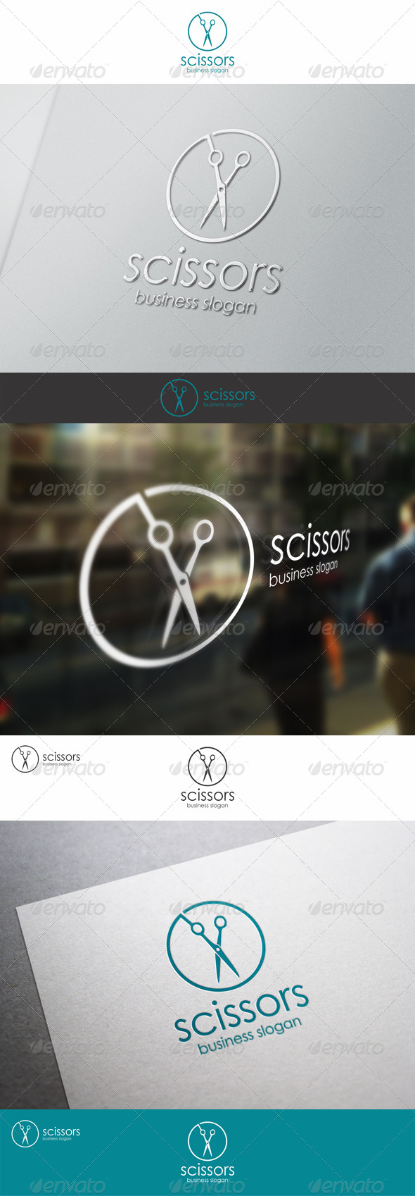 Scissors - Barber Shop Logo Template