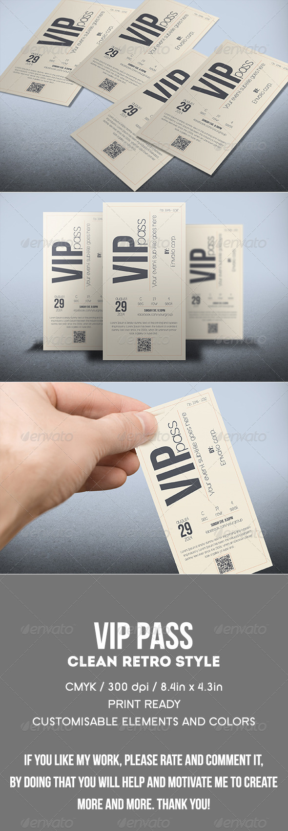 Vip Pass Graphics, Designs & Templates from GraphicRiver
