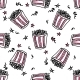 Seamless Pattern with Doodle Popcorn Buckets - GraphicRiver Item for Sale