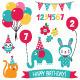 Kid Birthday Vector Set  - GraphicRiver Item for Sale