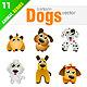 12 Cartoon Dogs - GraphicRiver Item for Sale