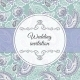 Wedding Invitation in Violet and Beige Style - GraphicRiver Item for Sale