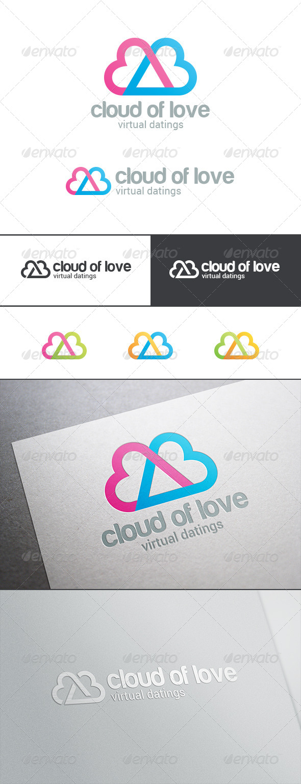 Dating Love Cloud Logo