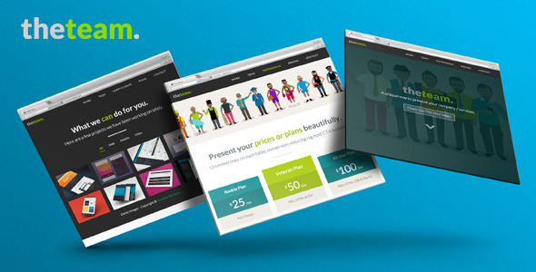 The Team - One Page Flat UI Pro Marketing Template