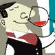 Wine-Tasting. Men & Women Drinking - GraphicRiver Item for Sale