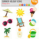 Summer Holiday Icons Vector - GraphicRiver Item for Sale