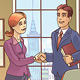 Businesspeople are Shaking the Hands - GraphicRiver Item for Sale