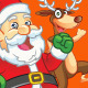 Running Santa and Reindeer  - GraphicRiver Item for Sale