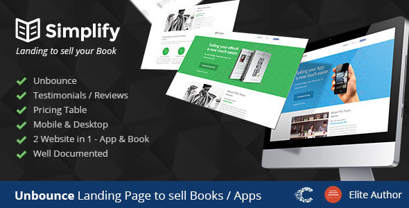 Simplify Unbounce Landing Page Template
