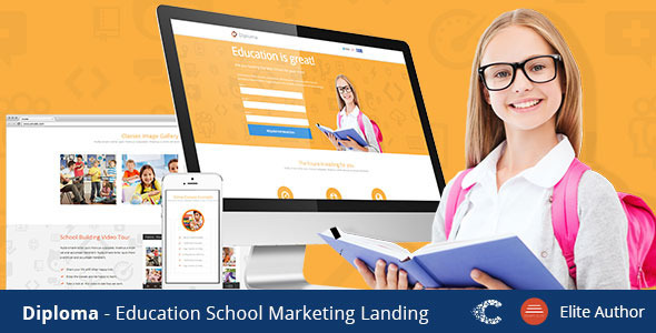 Diploma - Unbounce Landing Page Template