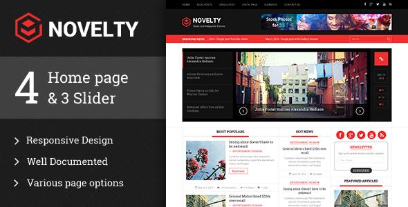 Novelty responsive HTML5 template