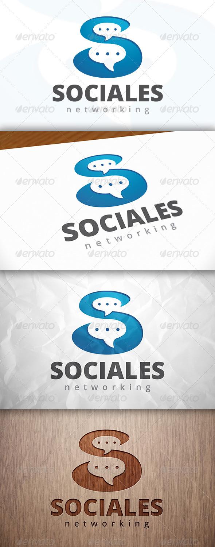 Social S Letter Logo Template