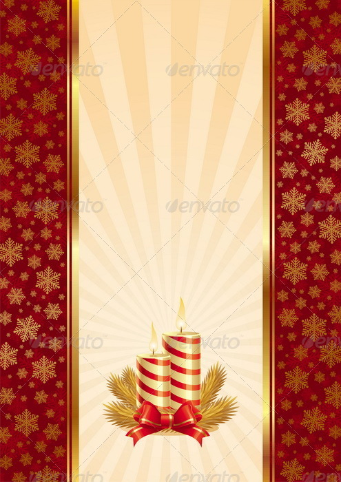 Vector Background With Christmas Candles