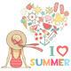Summer Illustration - GraphicRiver Item for Sale