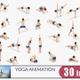 Woman Yoga Animation Bundle - VideoHive Item for Sale