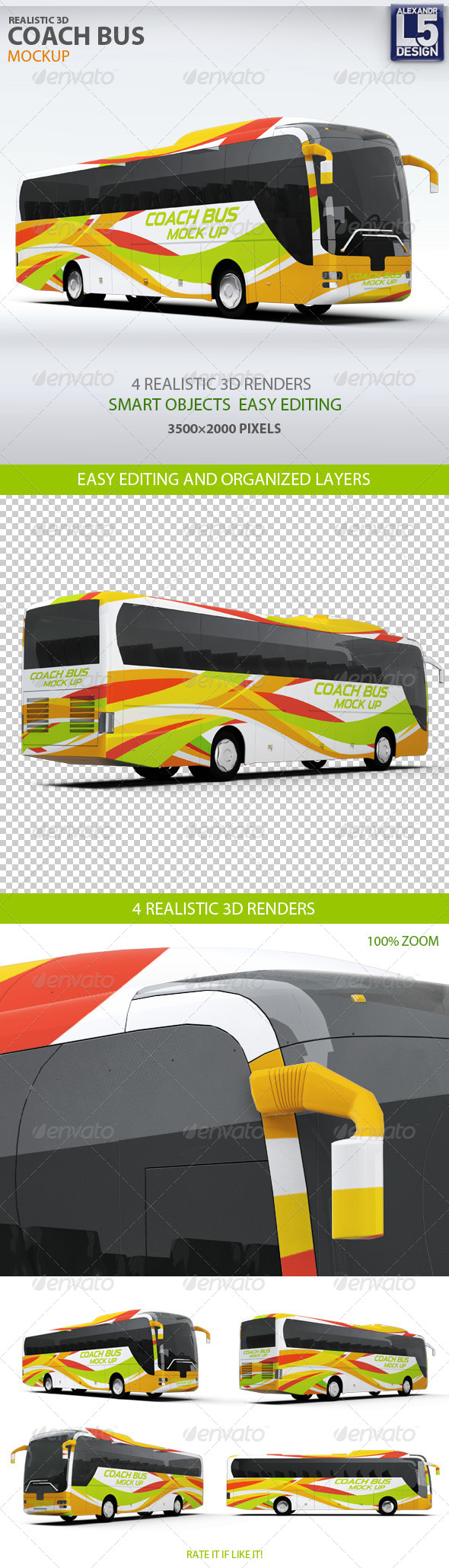 Bus Graphics, Designs & Templates from GraphicRiver