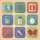Set of Fitnes Icons - GraphicRiver Item for Sale