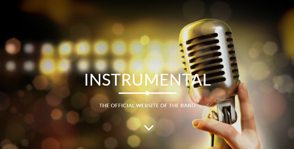 Instrumental - Band / Events Muse Template