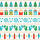 Set of Christmas Tape Strips - GraphicRiver Item for Sale