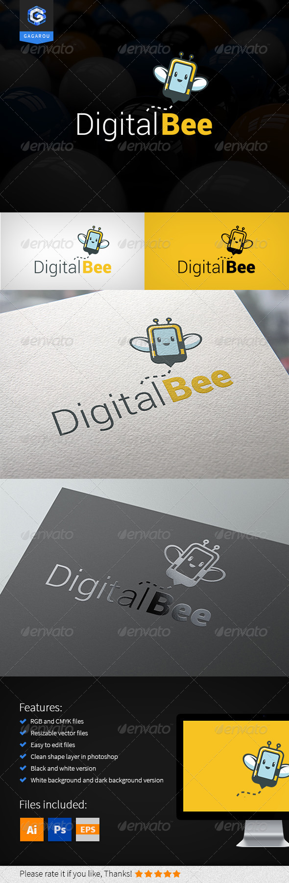 Digital Bee Logo