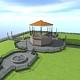 Park + kiosk - 3DOcean Item for Sale
