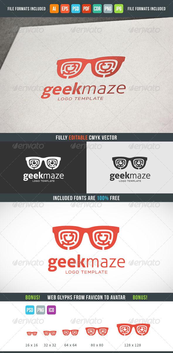 Geek Maze Logo Template