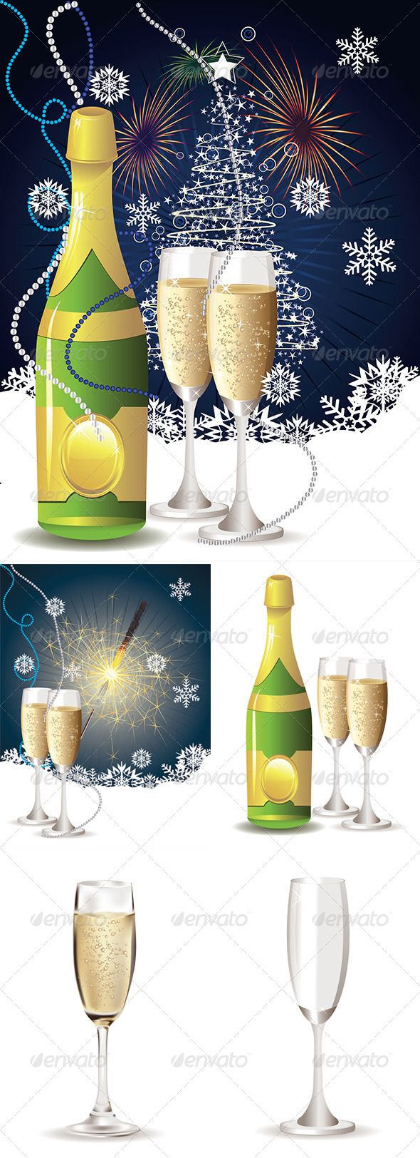 Card with Champagne