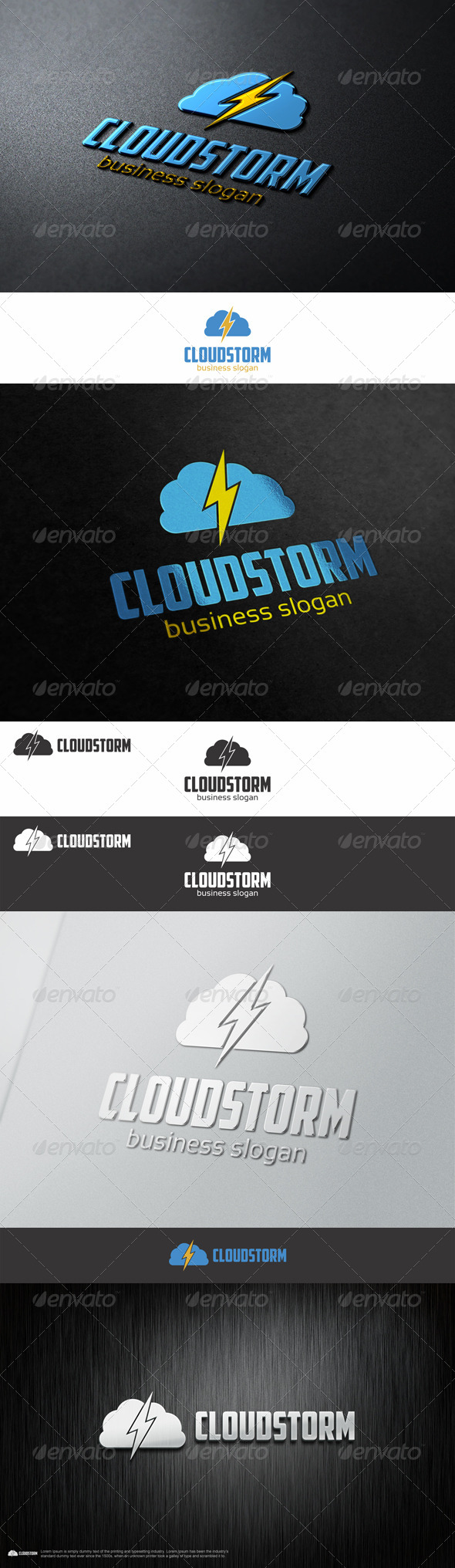 Cloud Storm Thunder Logo