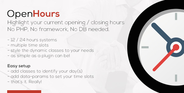 OpenHours - Highlight your Opening / Closing Hours
