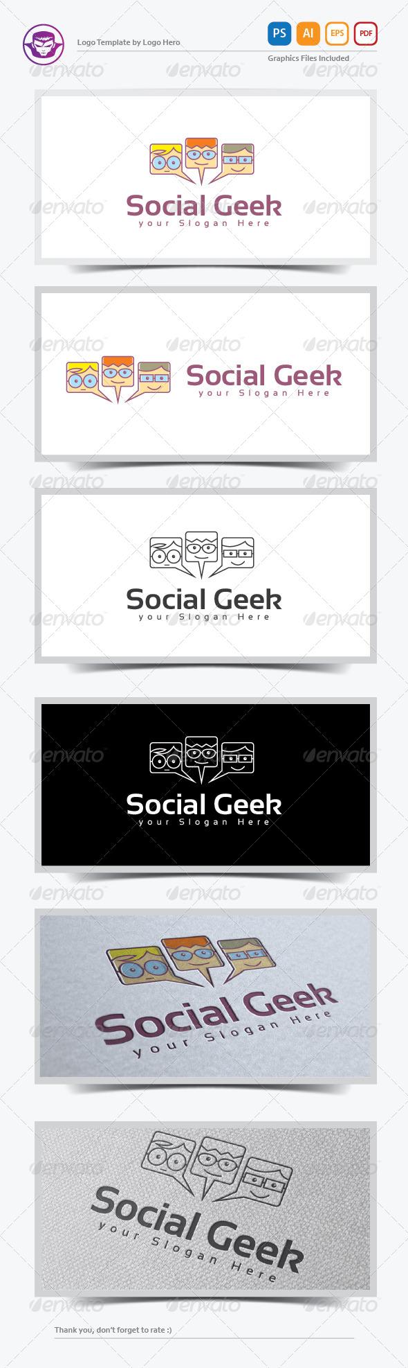 Social Geek Logo Template