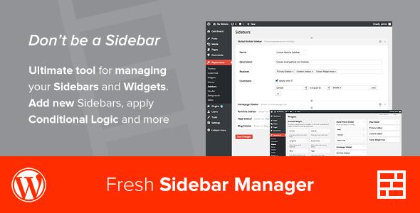 Custom Sidebar Manager