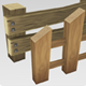 Low Poly Wooden Fence - 3DOcean Item for Sale
