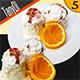 Ice-Cream Dessert with Orange Slice - GraphicRiver Item for Sale