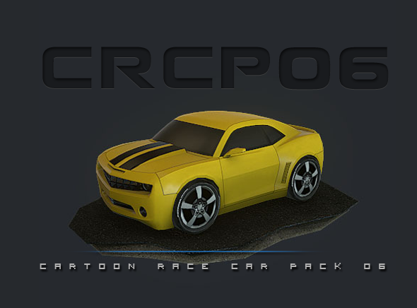 Cartoon Race Car Cg Textures 3d Models From 3docean