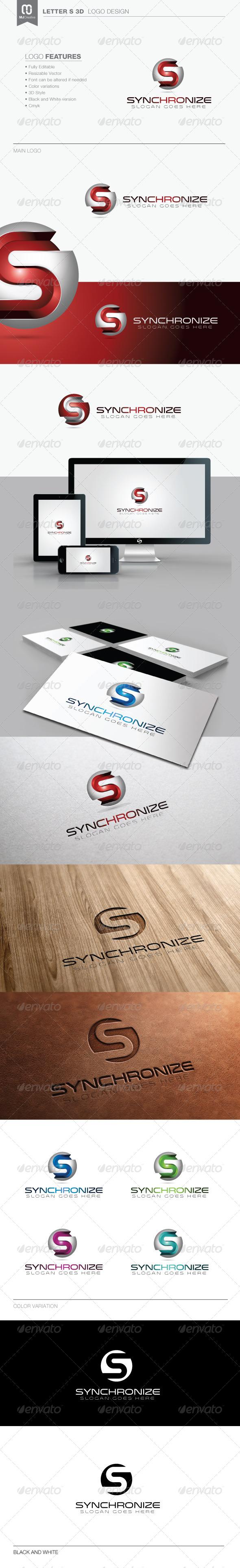 Letter S 3D Tech Logo