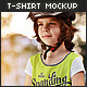 Little Girl / T-Shirt Mock-Up - GraphicRiver Item for Sale