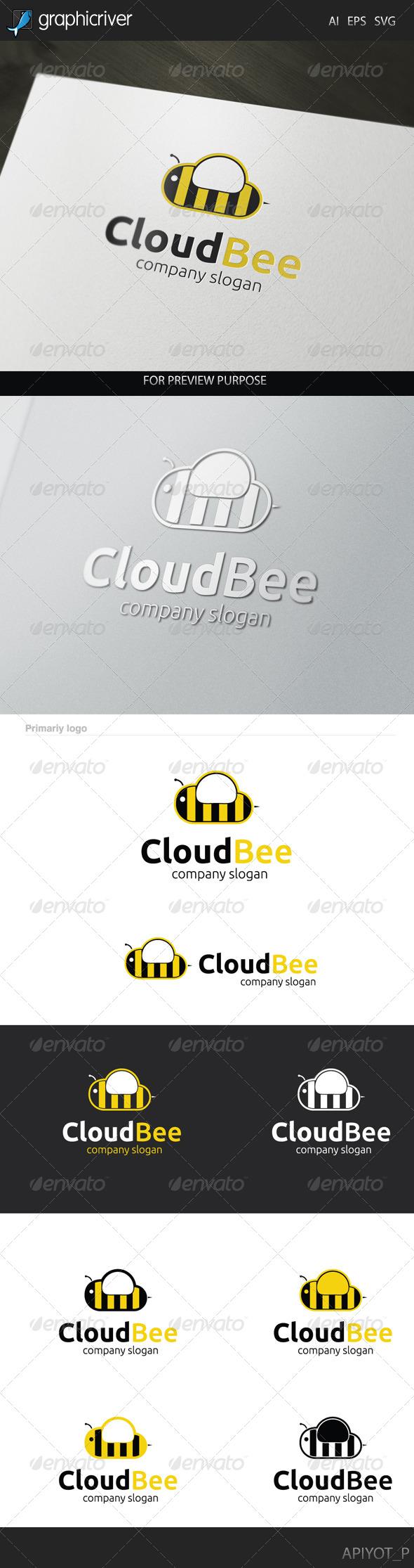 Cloud Bee Logo