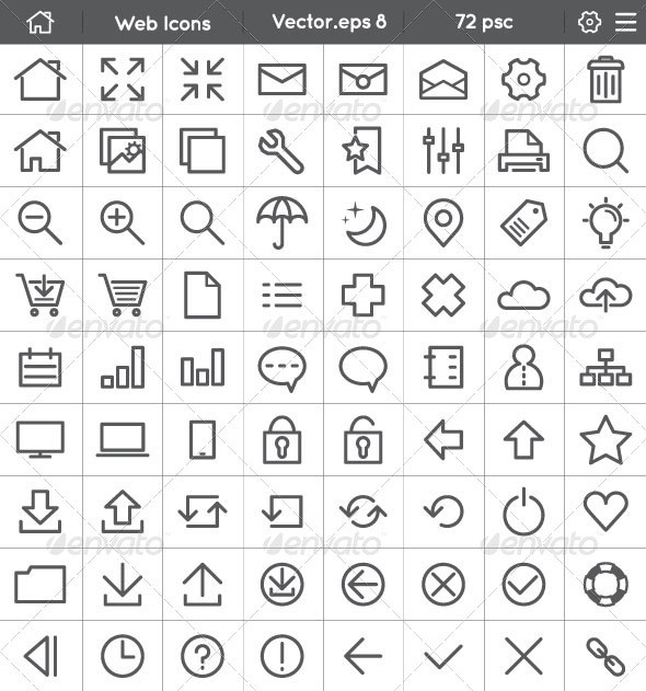 Web - Interface Icons