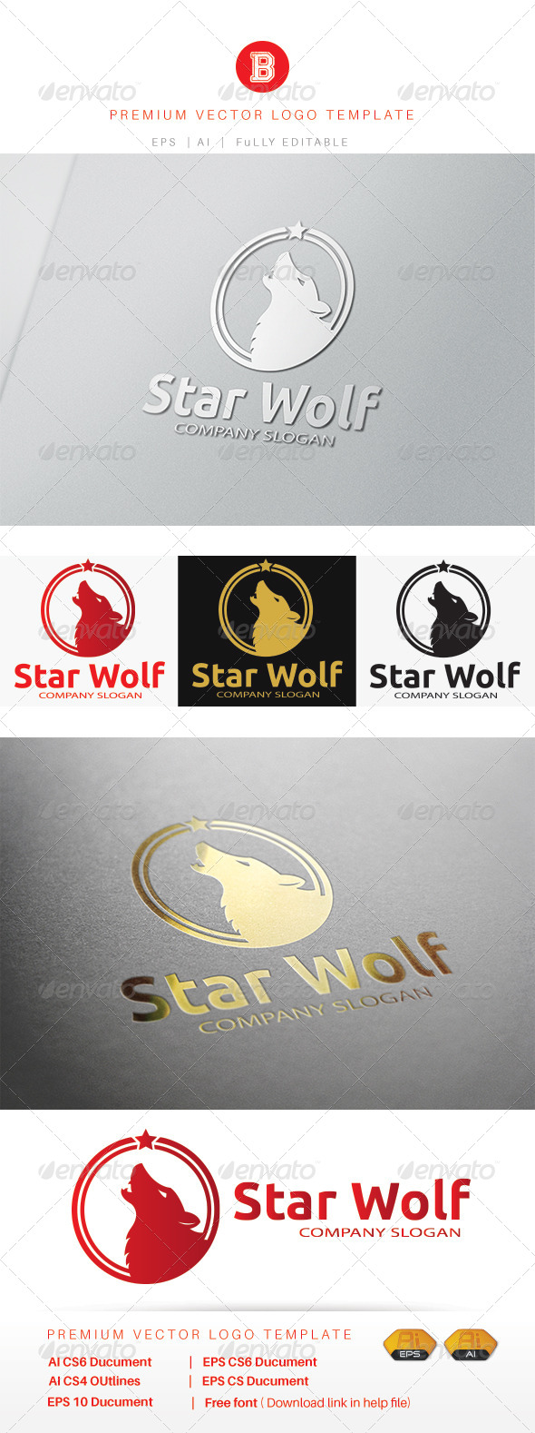 Wolf Logo Templates from GraphicRiver