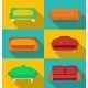 Set of Modern Sofa Icons - GraphicRiver Item for Sale