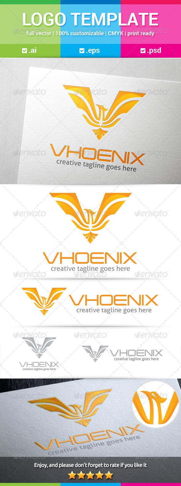 Phoenix Letter V Logo