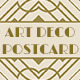 Wedding Save the Date Post Card - Art Deco 01 - GraphicRiver Item for Sale