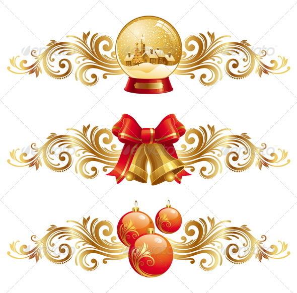 Christmas Symbols With Ornamental Decor