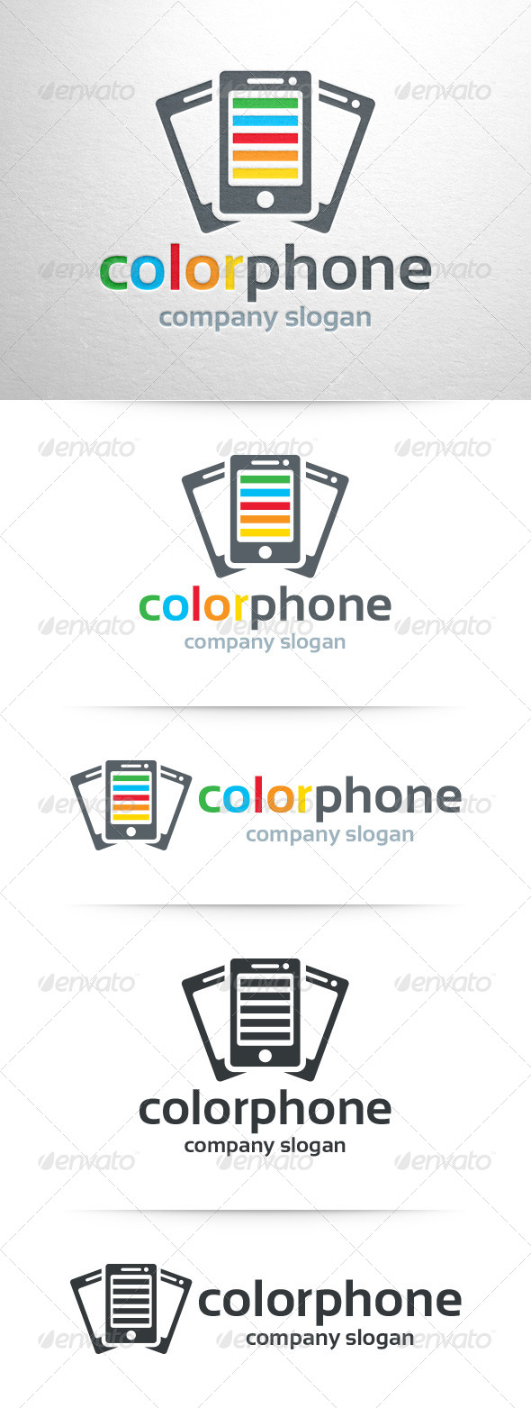 Color Phone Logo Template