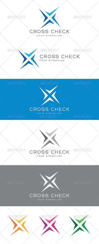 Cross Check Letter X Logo
