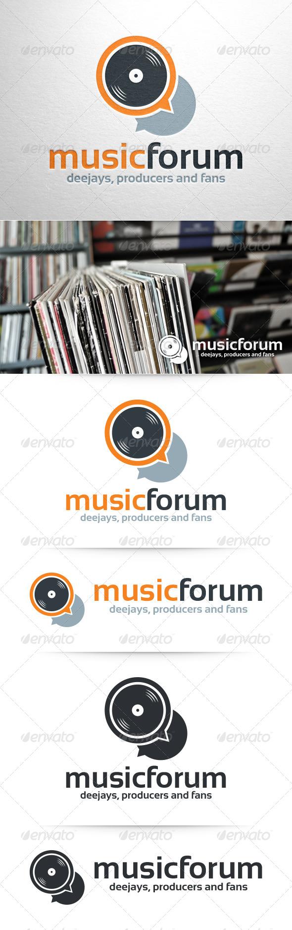 Music Forum Logo Template