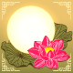 Mid Autumn Festival Lotus Flower and Moon - GraphicRiver Item for Sale