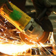 Working With an Angle Grinder - VideoHive Item for Sale