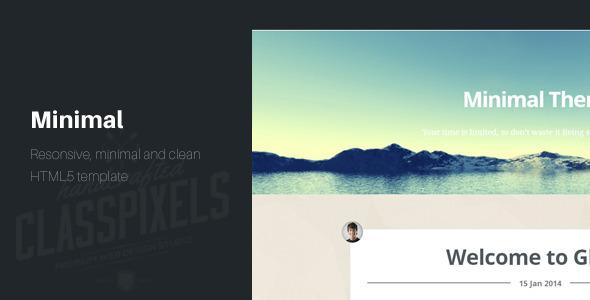 Minimal Responsive HTML5 Blog template